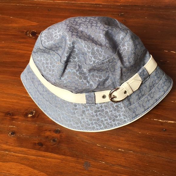 Coach Accessories - Coach all over print bucket hat w/ buckle